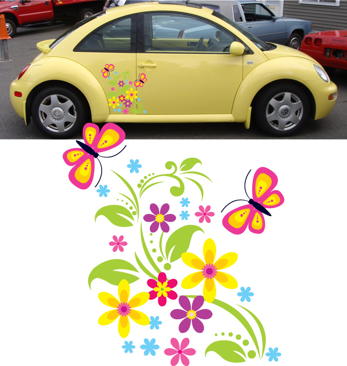 Girly Car Stickers Uk