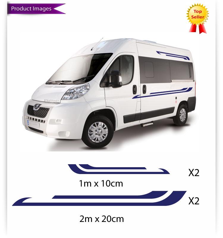 Creative Motorhome Vinyl Graphics Stickers Decals Camper Van RV Caravan