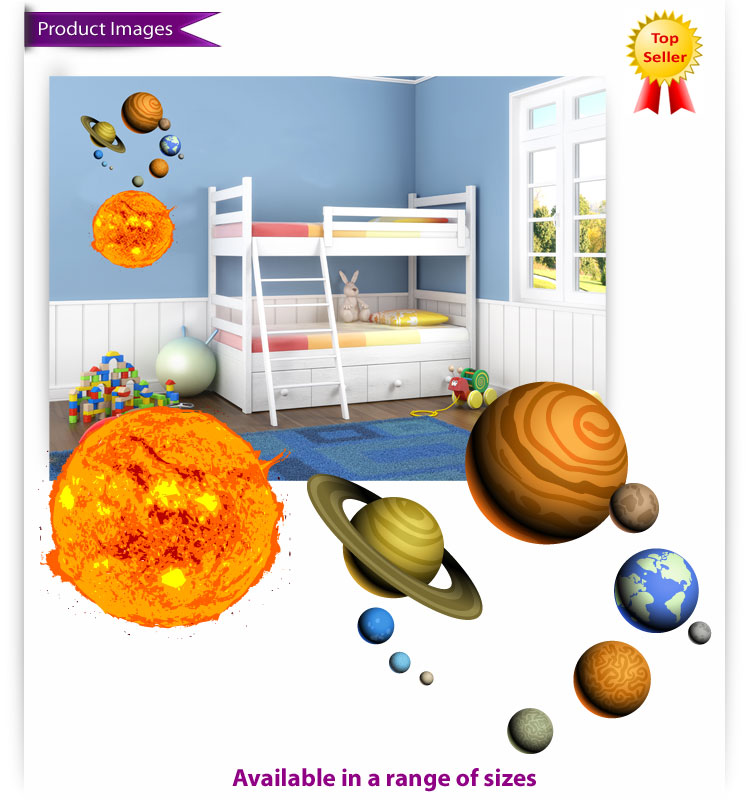 Solar System Wall Decals Large - Pics about space